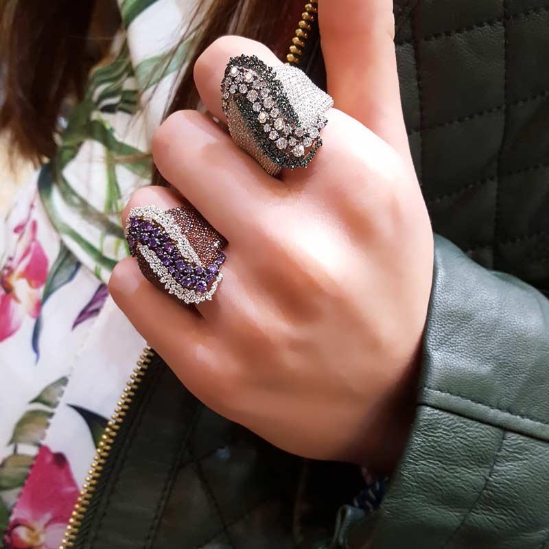 diamonds stones and leaves